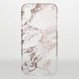 Marble Rose Gold Abstract Italian Minimalism Lux iPhone X Case