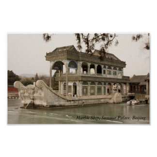 Marble Ship, Summer Palace, Beijing Poster