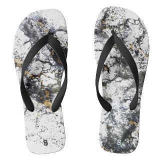 Marble Splash Flip Flops