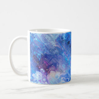 MARBLE STARRY NEBULA SKY BLUE COFFEE MUG