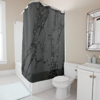 Marble Stone Abstract Black Graphite Glitter Gray