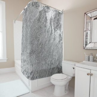 Marble Stone Abstract Metallic Silver Gray Luxury