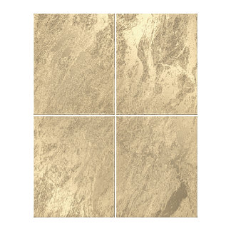 Marble Stone Abstract Monochrom Faux Gold Luxury Canvas Print