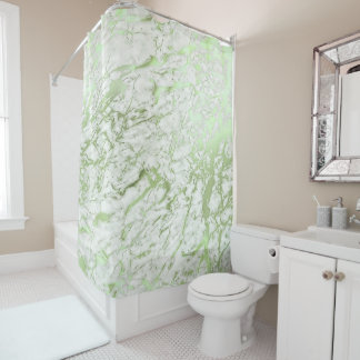 Marble Stone Abstract White Carrara Mint Green