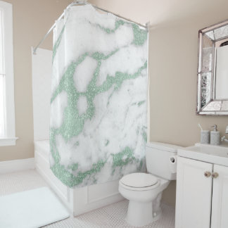 Marble Stone Abstract White Gray Mint Green Pastel