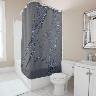 Marble Stone Blue Navy Graphite Glitter Gray