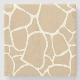 Marble stone : Brown giraffe Stone Coaster