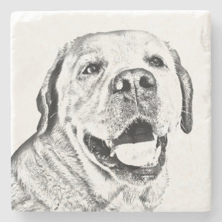 Marble Stone Coaster - Labrador Retriever