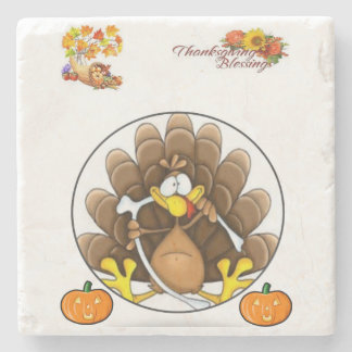 Marble Stone Coaster Thanksgiving