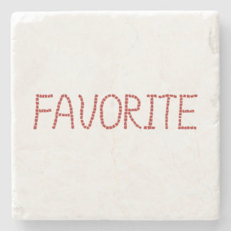 Marble stone coaster with 'favorite'