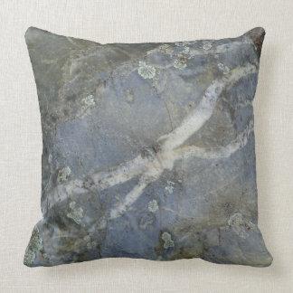 Marble Stone Grey Throw Pillow