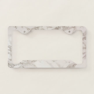 Marble Stone License Plate Frame