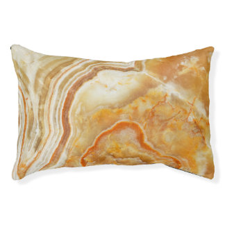 Marble Stone Look In Beige And Light Brown Pet Bed