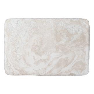 Marble Stone Luxury White Beige Ivory Powder Bath Mat