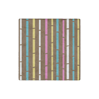 Marble stone magnet : Brown bamboo