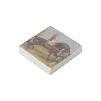Marble Stone Magnet: The Godolphin Arabian Stone Magnets