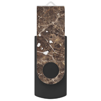 Marble Stone  Pattern in Brown Tones USB Flash Drive