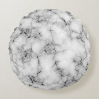 Marble Stone Round Throw Pillow