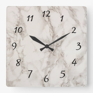 Marble Stone Square Wall Clock
