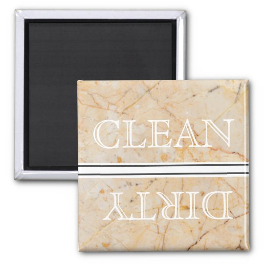 Marble Style Dishwasher Magnet Clean & Dirty