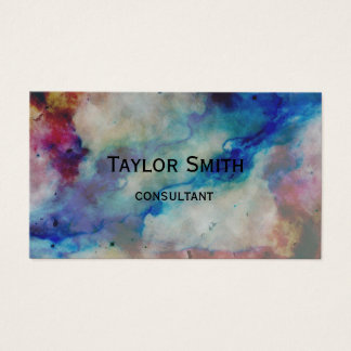 marble swirl paint stone color business card