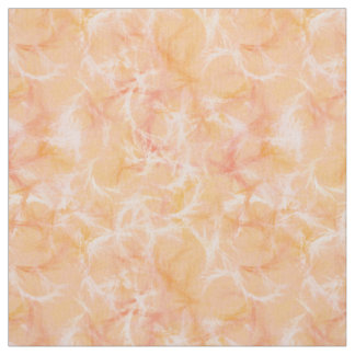 Marble swirl print - soft orange fabric