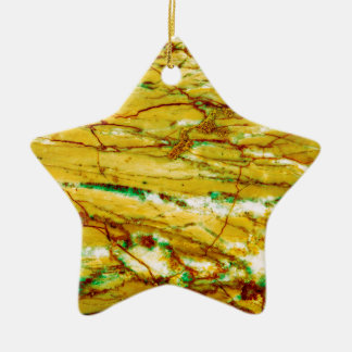 Marble texture ceramic star ornament