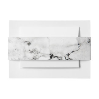 Marble texture invitation belly band