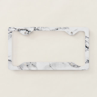Marble texture license plate frame