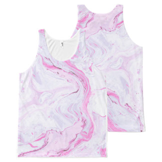 marble texture pullover All-Over-Print tank top