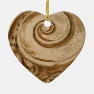 Marble, The Colosseum Ceramic Heart Ornament