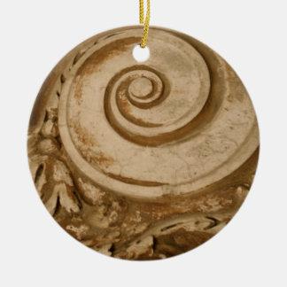 Marble, The Colosseum Round Ceramic Ornament