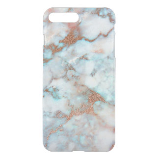 Marble White Blue Pink Rose Gold Brush Ocean iPhone 8 Plus/7 Plus Case