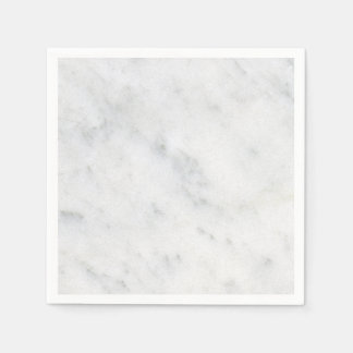 marble white stone modern cocktail napkin paper napkins