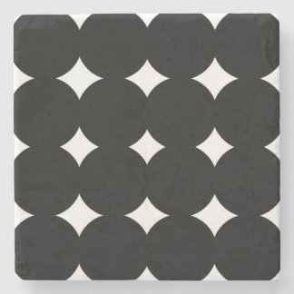 Marble with dots : with circles stone coaster