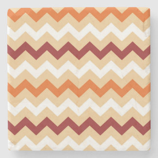 Marble with zig-zag Stripes Stone Coaster