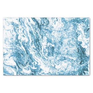 Marbled Abstract Design | Blue and White Tissue Paper