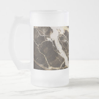 Marbled-Abstract Expressionism by Shirley Taylor Frosted Glass Beer Mug