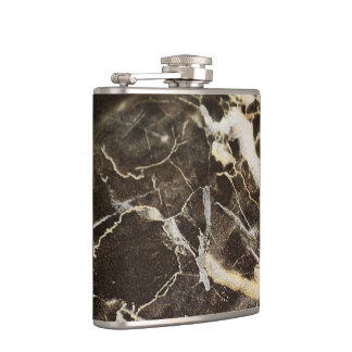 Marbled-Abstract Expressionism by Shirley Taylor Hip Flask