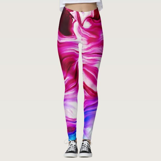 Marbled Abstract Ink I leggings