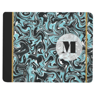 Marbled B&W with Transparent Background Journals