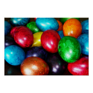 Marbled Easter Eggs Poster