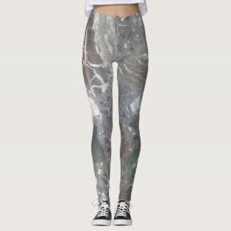 Marbled effect leggings