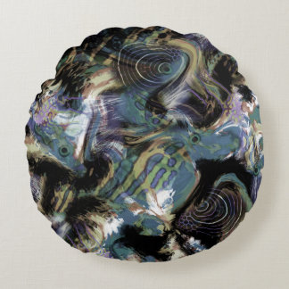 Marbled fish  , fish, marbled, leather, sea fish, round pillow