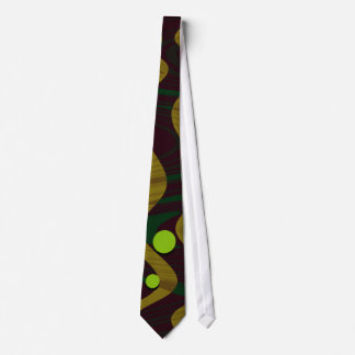 Marbled Gold Green Dot Wave Tie