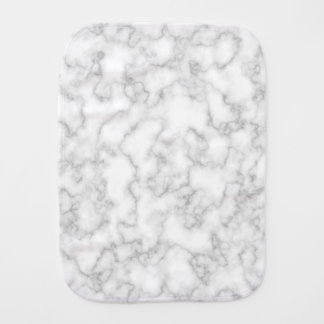 Marbled Gray White Marble Stone Pattern Background Burp Cloth