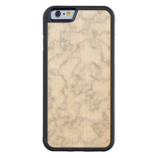 Marbled Gray White Marble Stone Pattern Background Carved Maple iPhone 6 Bumper Case