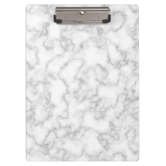 Marbled Gray White Marble Stone Pattern Background Clipboard