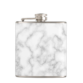 Marbled Gray White Marble Stone Pattern Background Flask