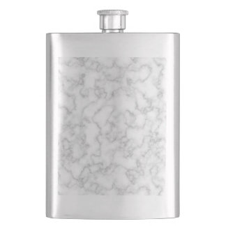 Marbled Gray White Marble Stone Pattern Background Flasks